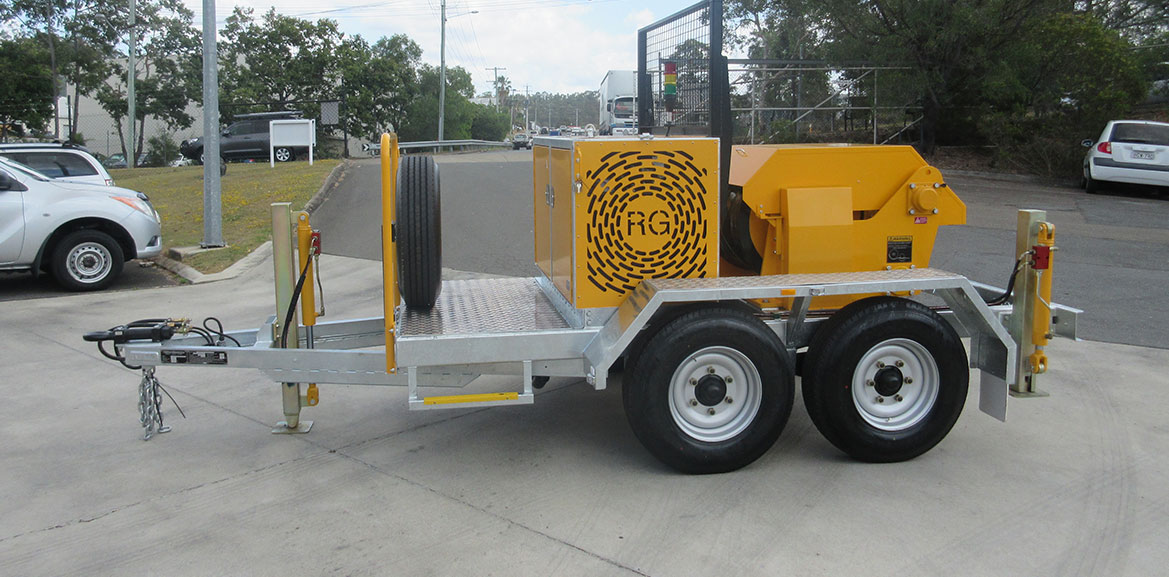 20kN (2 Tonne) Trailer-Mounted Recovery Winch