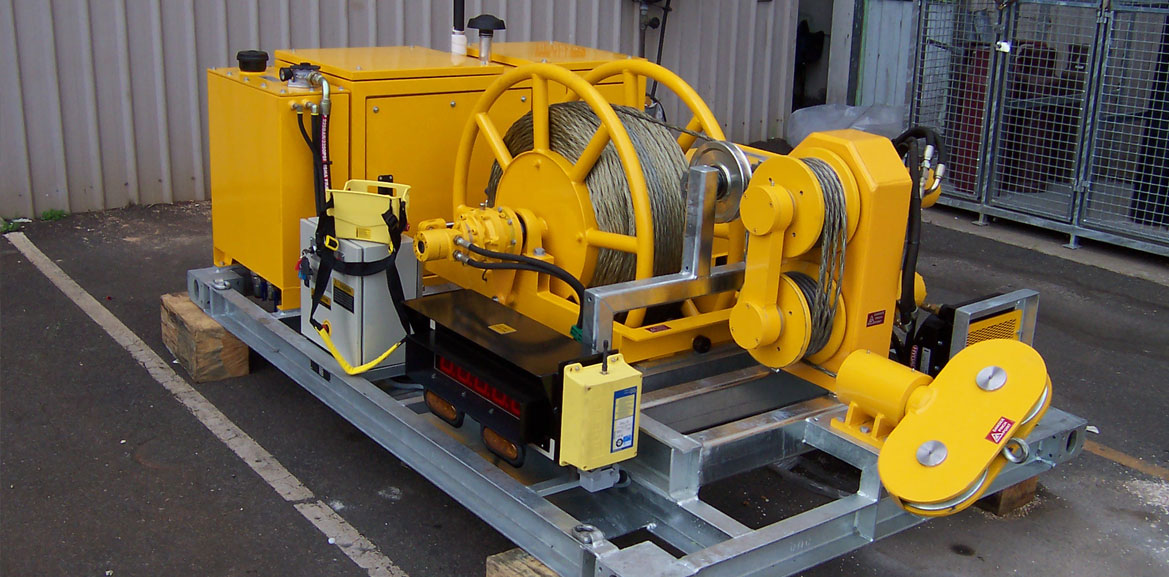 35kN Bull Wheel Winch – Skid-mount
