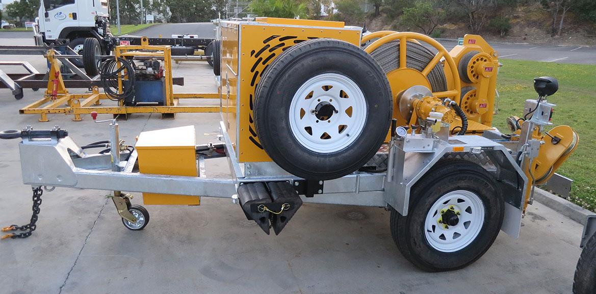 35kN Bull Wheel Winch – Trailer mount