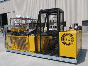 10kN 3-Drum Skid-Mounted Recovery Winch - winch machine for cable pulling