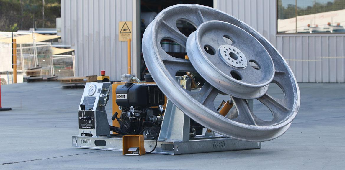 2kN Fibre Optic Skid Mount with Petrol Engine