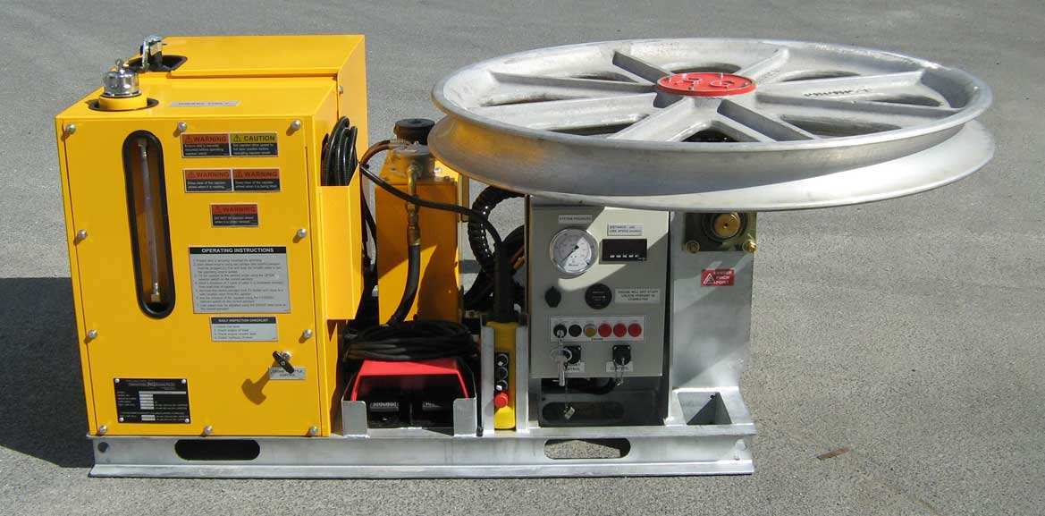5kN Fibre Optic Skid-Mount Winch with Water Cooled Diesel Motor