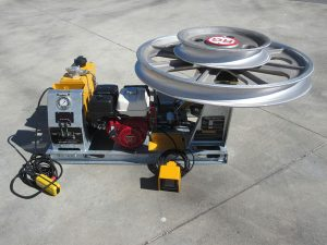 5kN Fibre Optic Skid Mount Winch with Petrol Motor