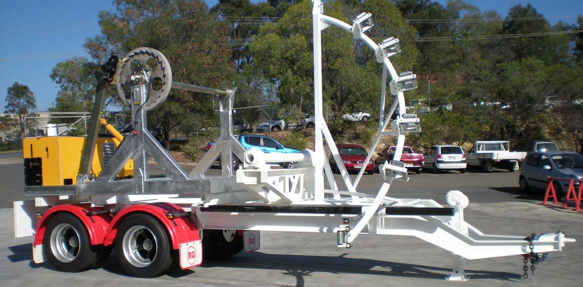 8-Tonne, 10-Tonne, 14-Tonne Drum Stand Mounted on Trailer