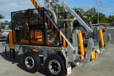 Evoenergy takes delivery of two new 6T Self Loading Cable Drum Trailers