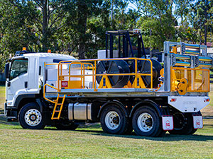 10kN 3-Drum Truck-Mounted Recovery Winch