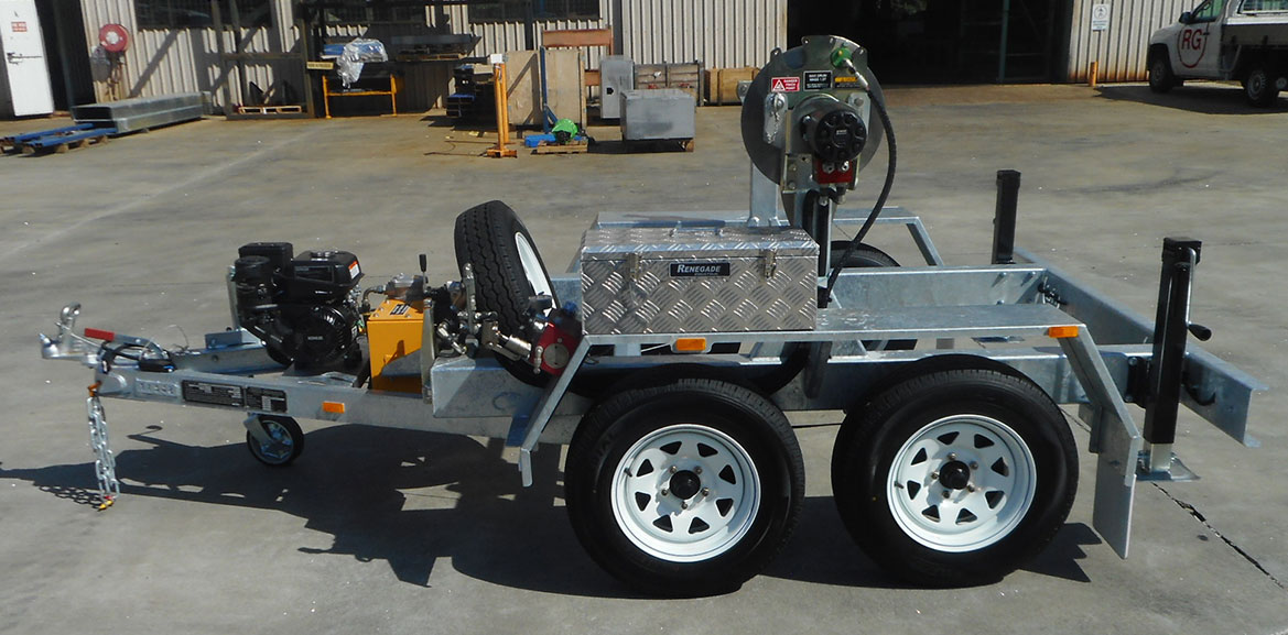 ABC 1-Drum Dual Axle Cable Trailer
