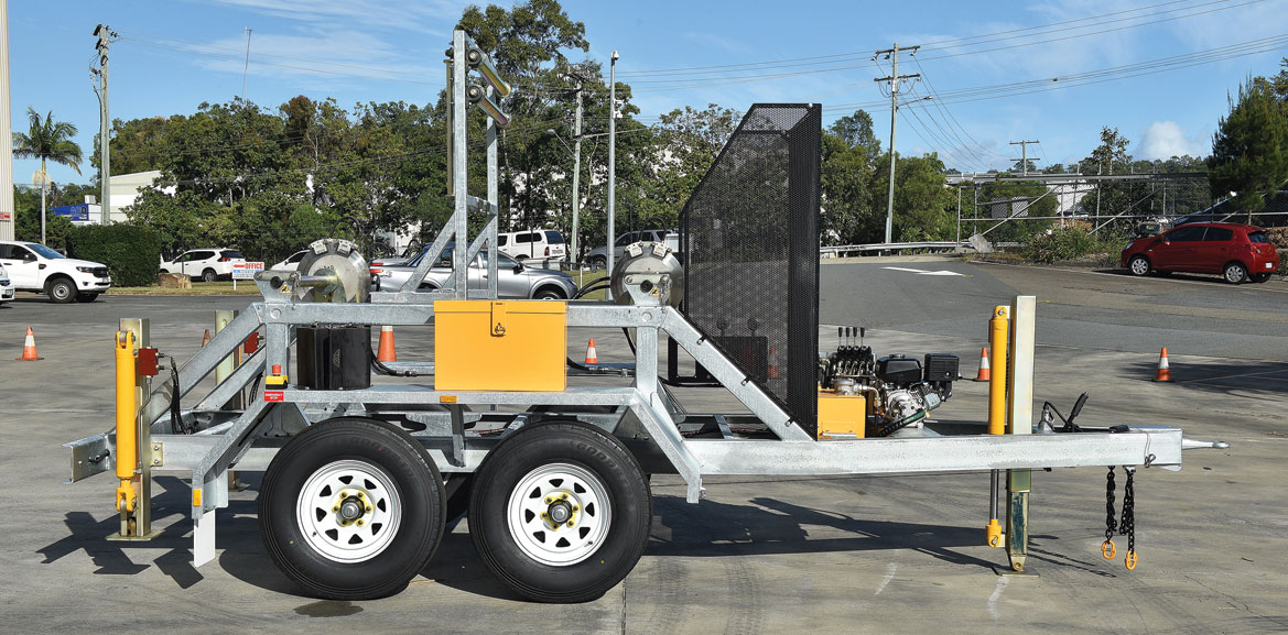 ABC 2- Drum – Dual Axle Cable Trailer