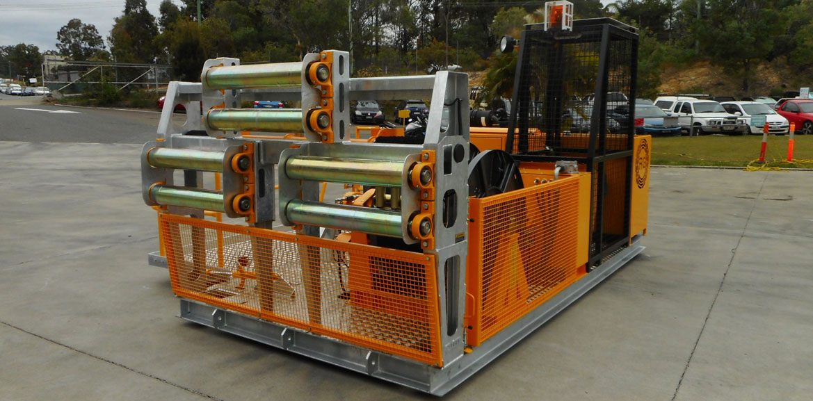 25kN 3-Drum Skid-Mounted Recovery Winch